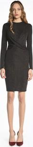 Czarna sukienka Gate ołówkowa z okrągłym dekoltem mini