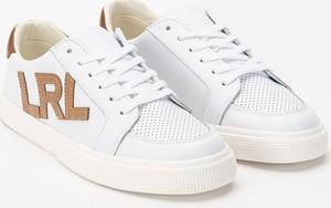 Buty sportowe POLO RALPH LAUREN ze skóry sznurowane