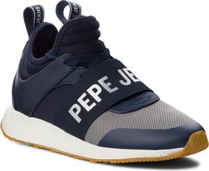 Sneakersy Pepe Jeans w sportowym stylu ze skóry ekologicznej