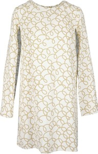 Sukienka Elisabetta Franchi w stylu casual z okrągłym dekoltem z długim rękawem