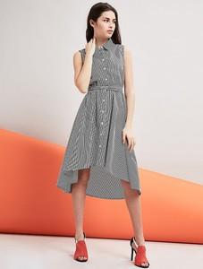 Sukienka William De Faye midi z jedwabiu