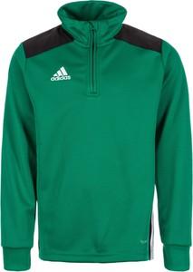 Zielona bluzka dziecięca Adidas Performance z dżerseju z długim rękawem