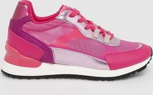 Różowe buty sportowe Aldo z zamszu na platformie sznurowane