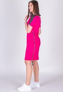 Sukienka Should Be z okrągłym dekoltem mini z krótkim rękawem
