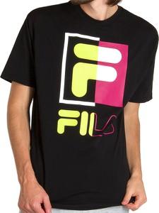 T-shirt Fila z bawełny z krótkim rękawem z nadrukiem