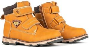 Żółte buty dziecięce zimowe Royalfashion.pl na rzepy