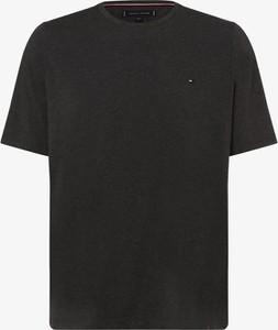 Czarny t-shirt Tommy Hilfiger z krótkim rękawem z bawełny