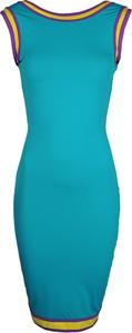 """Niebieska sukienka Sugarbird Sukienka """"karem"""" z okrągłym dekoltem ołówkowa w stylu casual"""