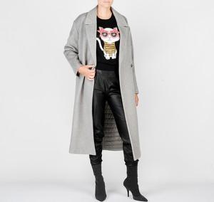 Płaszcz ubierzsie.com z wełny w stylu casual