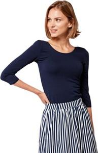 Granatowa bluzka Marie Zélie z bawełny