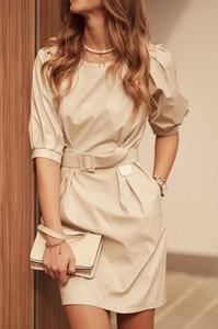 Sukienka Fasardi ze skóry ekologicznej mini