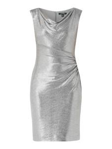 Srebrna sukienka Ralph Lauren bez rękawów prosta z dekoltem woda