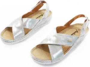 Sandały Obuwianka w stylu casual ze skóry ekologicznej z klamrami