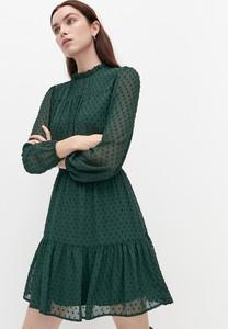 Sukienka Reserved mini z tkaniny z długim rękawem