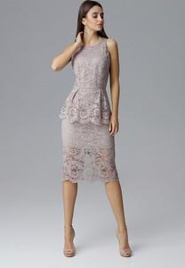 Sukienka Figl midi bez rękawów baskinka