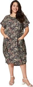 Sukienka Aller Simplement z krótkim rękawem midi z okrągłym dekoltem