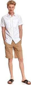 Koszula Top Secret z tkaniny z klasycznym kołnierzykiem z krótkim rękawem