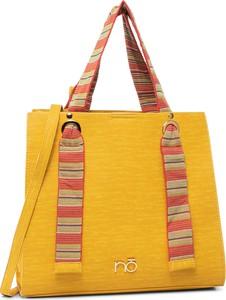 Żółta torebka eobuwie.pl matowa w wakacyjnym stylu na ramię