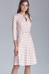 Sukienka Nife midi z długim rękawem