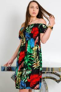 Sukienka Olika hiszpanka mini z krótkim rękawem