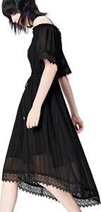 Czarna sukienka amazon.de asymetryczna