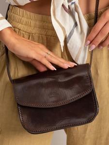 Brązowa torebka Rovicky mała na ramię