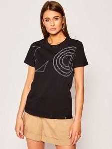 T-shirt Desigual z okrągłym dekoltem w młodzieżowym stylu