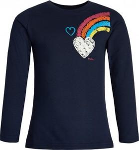 Granatowa koszulka dziecięca Endo z długim rękawem