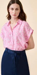 Różowa bluzka ORSAY z dekoltem w kształcie litery v z tkaniny
