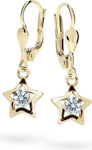 Cutie jewellery kolczyki dla dzieci cutie gwiazdki c1942 żółtego, white, zapięcie patentowe