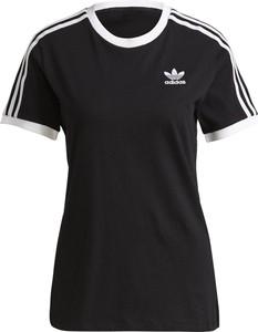 Czarny t-shirt Adidas z okrągłym dekoltem w sportowym stylu