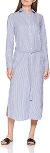 Niebieska sukienka amazon.de koszulowa