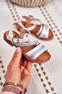Buty dziecięce letnie Frrock z klamrami dla dziewczynek