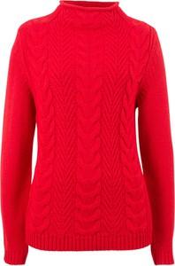 Pomarańczowy sweter bonprix bpc bonprix collection w stylu casual