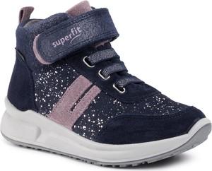 Buty dziecięce zimowe Superfit sznurowane