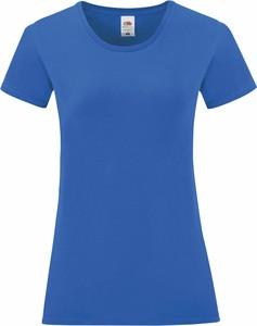 Niebieski t-shirt Fruit Of The Loom z bawełny