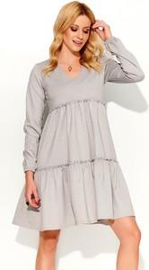 c0091b0094 długa sukienka szara - stylowo i modnie z Allani