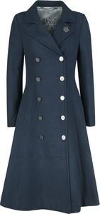 Granatowy płaszcz Emp w stylu casual