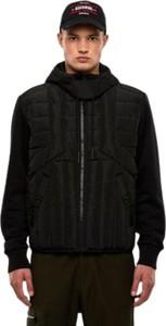 Czarna kurtka Diesel krótka w stylu casual