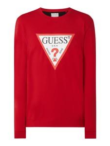 Czerwona bluza Guess w młodzieżowym stylu z bawełny