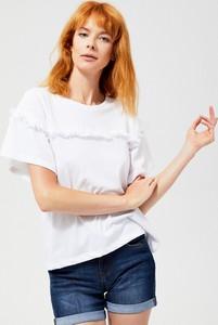 Bluzka Moodo z krótkim rękawem z okrągłym dekoltem