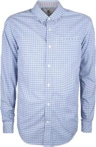 """Niebieska koszula Timberland Koszula """"pine River Poplin"""" z tkaniny z długim rękawem z klasycznym kołnierzykiem"""