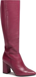Różowe kozaki Oleksy przed kolano