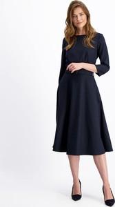Granatowa sukienka Lavard midi