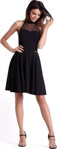 Czarna sukienka Ivon mini rozkloszowana