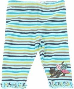 Niebieskie legginsy dziecięce La Compagnie Des Petits w paseczki dla dziewczynek