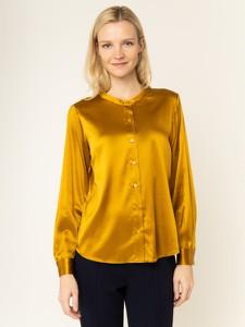 Złota koszula Luisa Spagnoli z długim rękawem