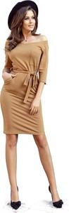 Sukienka NUMOCO mini z długim rękawem hiszpanka