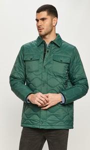 Zielona kurtka Vans z tkaniny krótka w stylu casual