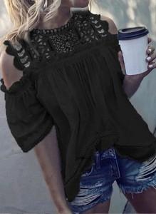 Czarna bluzka Arilook w stylu boho